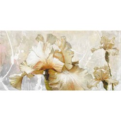 "Sestillo""Vanilla Iris 1"" Home Decor Flower Abstract Print for Living or Bedroom"