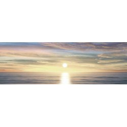 "Maggie Olsen""Sunlit Horizon 3""- Rainbow Sunset custom wrapped Giclée Canvas for Living or Bedroom"