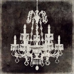 "Jeffries""Chandelier 2""quadri moderni on line in Stile Dark Barok con Lampadario a Gocce, pronto da appendere"