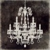 "Olivier Jeffries""Chandelier 2"".Modern Artistic RedayToHang Canvas, 3cm. High wooden framed"