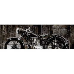"Matthews""Vintage Motorcycle""- Home Decor Art Picture custom wrapped Giclée Canvas"