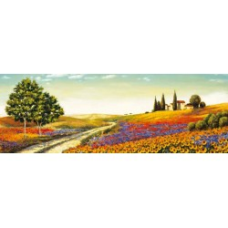 "LeBlanc""Morning in the Valley""Quadri moderni colorati con Toscana, misure a scelta"