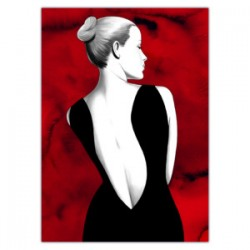 """Red Eva""-Astorina.Diabolik comics Stretched Canvas with Eva Kant,77x limited edition with Astorina Certificate"