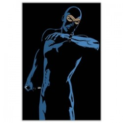 """Black Diabolik ""-Astorina.Diabolik comics Stretched Canvas with Eva Kant,77x limited edition with Astorina Certificate"
