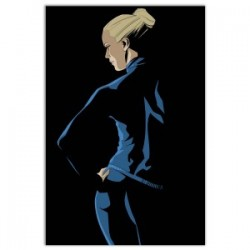"""Black Eva ""-Astorina.Diabolik comics Stretched Canvas with Eva Kant,77x limited edition with Astorina Certificate"