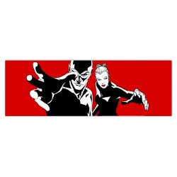 Diabolik & Eva-Astorina.Diabolik comics Stretched Canvas with Eva Kant,77x limited edition with Astorina Certificate