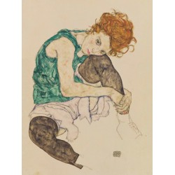 "Egon Schiele""Seated Woman""-HQ masterpiece Art Picture for Home Decor with famous woman portrait"