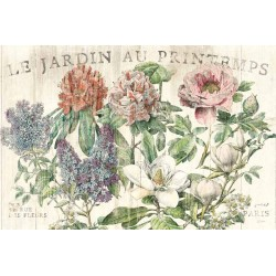 "Schlabach""Le Jardin Printemps"",Shabby-New Country style Stretched Canvas with roses and mixed flowers"