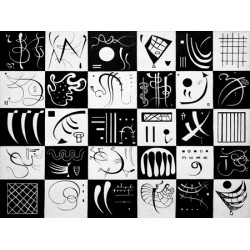 "Wassily Kandinsky - Trente"", original abstract pictures in black & white"
