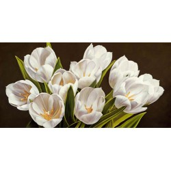 "Serena Biffi""Bouquet di tulipani"". Magnificent white tulips bouquet picture for Home Decor"