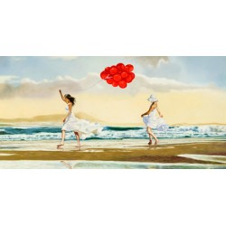 Collecting Waves,Pierre Benson-Awesome On Demand Author's picture with chiildren's dance on the beach
