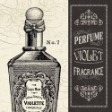 "Pela Studio""Parfum 2"" quadri fashion con profumo in bianco e nero vintage"