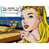 "Sheila B.""Yes, George"" pop art comics canvas already 3cm high stretched, size 100x150cm or others"