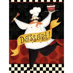 "Charron""Bon Appetit 2"" decor picture with funny chef for kitchens or dining rooms"