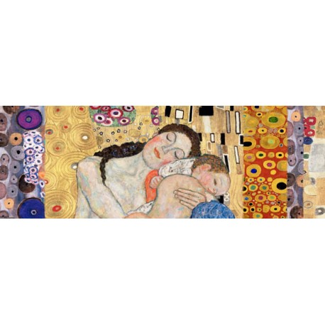 "Klimt patterns ""Death and Life Deco Panel"" - Quadro per Camera da Letto in Misure Multiple"