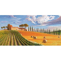 "Adriano Galasso - ""Colline Toscane"" high quality print on Canvas or Paper for Home Decor Design"