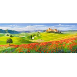 "Galasso - ""Borgo in Toscana"" high quality print on Canvas or Paper for Home Decor with typical Tuscan landscape"