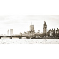 "Frank Helena""Parliament and Westminster,London"" London stock photo shot in black and white"