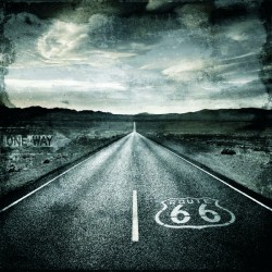 """Luke Wilson""""Road Trip"""". Route 66 photographic picture in black & white. Size by choice"""
