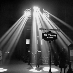 "Jack Delano""Sunbeams in Chicago's Station""Author's Official B/W photo. Poster, Canvas or Ready to Hang"