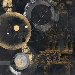Proporzione - Arturo Armenti, abstract Fine Art Print with black and gold for interior design
