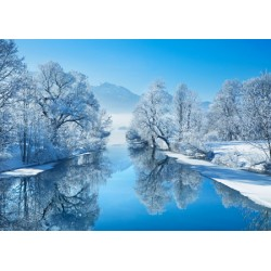 "Frank Krahmer""Winter Landscape""-Author's photo shot over the river,with snow.Size and stuff by choice"