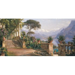 """Carl Frederic Aagard - """"Lodge on the Lake"""" - HQ Original print on Canvas or Paper for Home Decor"""