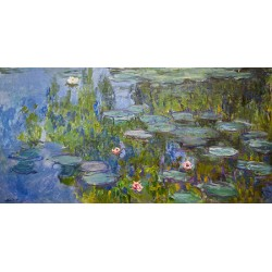 Claude Monet-Water Lilies HQ Original print on heavy cotton canvas or artistic paper for Home Decor
