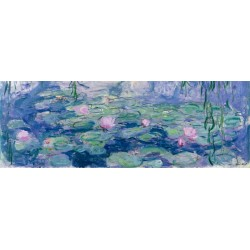 Claude Monet-Waterlilies HQ Original print on heavy cotton canvas or artistic paper for Home Decor