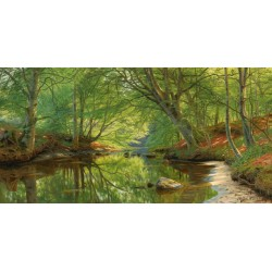 """Monsted """"A Stream Through The Woods"""" - HQ Original print on Canvas or Paper for Home Decor"""