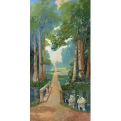 """Monsted """"Country Path""""- HQ Original print for trompe l'oeil effect design. Canvas or Paper"""