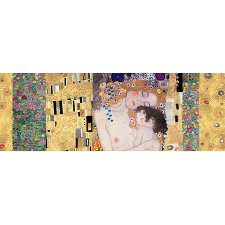 "Klimt Patterns ""3 Ages Deco Panel"" - Modern rendition from the Klimt's Classic,for Living or Bedrooms"