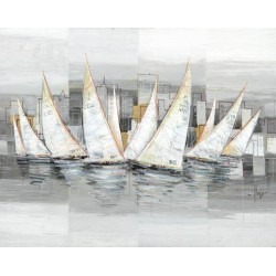 "Luigi Florio ""Regata"" - Author's White and Grey Image for every room. Size by choice"