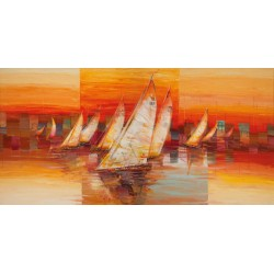 "Luigi Florio ""Vele al Tramonto"" high quality print,size & stuff by choice"