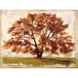 "Leonardo Bacci ""Mattino"" -Home Decor Best Seller Image with symbolic tree in white, green and brown"