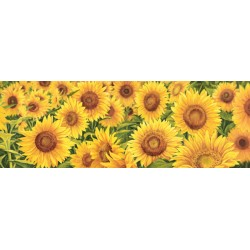 "Luca Villa ""Field of Sunflowers"" -Home Decor Best Seller Image with sunflowers field, low and wide format"