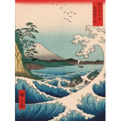 "Ando Hiroshige "" Sea at Satta"""