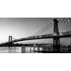 Michel Setboun - Qeenstudio Dridge and Manhattan from Brooklyn stampa Alta Risoluzione