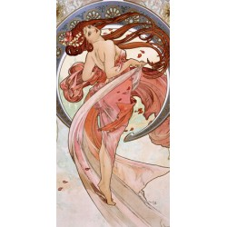 "Mucha""Dance""-Classical Author's Fine Art Picture for Home Decor"