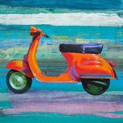 Pop Scooter 2-Teo Rizzardi.Quadro Moderno con Scooter in Formato Quadrato in Misure varie