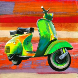 Pop Scooter 1-Teo Rizzardi.Quadro Moderno con Scooter in Formato quadrato e supporti vari