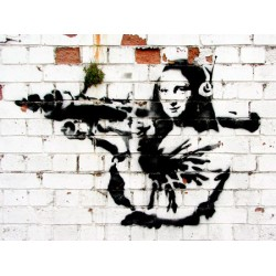 Bansky (attributed to) -Soho,London, Stampa Street Art d'Autore su Supporti Vari e con Misure Diverse