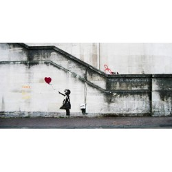 Bansky(attributed to)-South Bank,London.Stampa d'Autore Street Art su Canvas o Carta