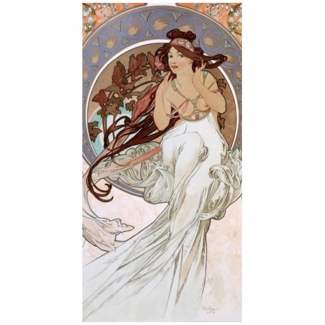 """Mucha""""Music""""-Classical Author's Fine Art Picture for Home Decor"""