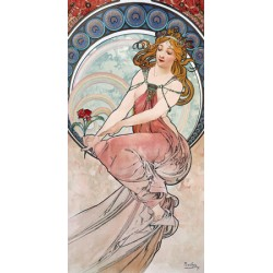 "Mucha""Painting""/4 Muses-Classical Author's Fine Art Picture for Home Decor"