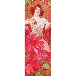 Mucha-Ruby.Classical Author's Fine Art Picture for Home Decor.Wide set of customizations, available