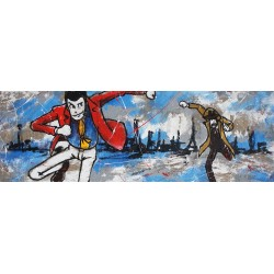 Zenigata & Lupin-Lupin the third Original haindpainted picture