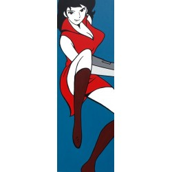 Fujiko-Lupin the third Original Monkey Punch picture, vertical format