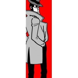 Zenigata-Lupin the third - Original Monkey Punch picture in a Vertical Format