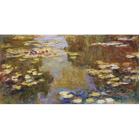 Claude Monet-The Lily Pond high quality print on canvas or artistic paper